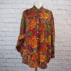 Fenn Wright Manson Oversized Silk Floral Top